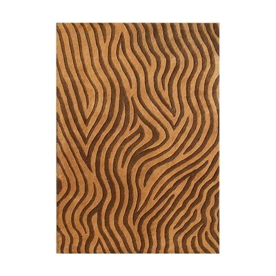 Sandpoint Hand-Tufted Brown Area Rug