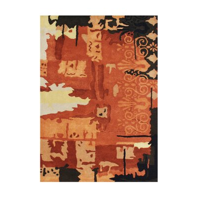 Terreton Hand-Tufted Rust Area Rug