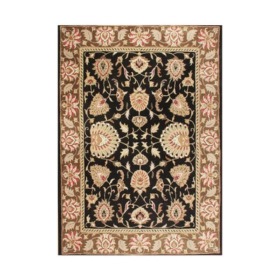 Troy Hand-Tufted Black/Taupe Area Rug