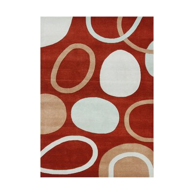 Vay Hand-Tufted Red Area Rug