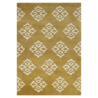 Weippe Hand-Tufted Gold Area Rug