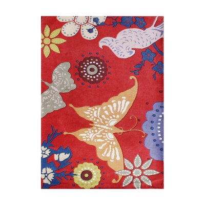 Roald Hand-Tufted Red Area Rug