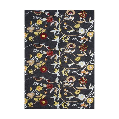 Bautista Hand-Tufted Black Area Rug