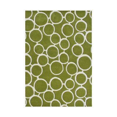 Ayllon Hand-Tufted Green Area Rug
