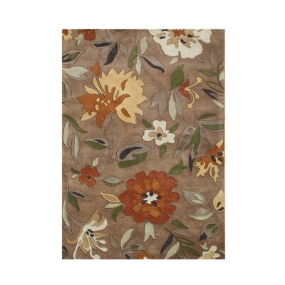 Bering Hand-Tufted Rust Area Rug Rug Size: 5 x 8