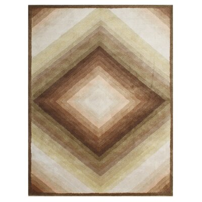 Vitus Hand-Tufted Sand Area Rug Rug Size: 5 x 8