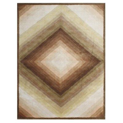 Vitus Hand-Tufted Sand Area Rug Rug Size: 5 x 8