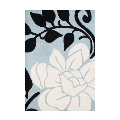 Cabot Hand-Tufted Light Blue/Cream Area Rug Rug Size: 8 x 10
