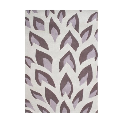 John Hand-Tufted Hushed Violet Area Rug Rug Size: Rectangle 8 x 10