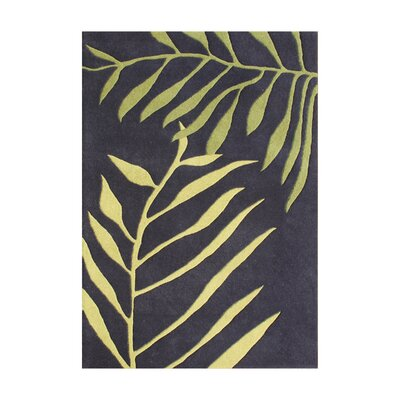 Caboto Hand-Tufted Black/Tender Green Area Rug Rug Size: 5 x 8