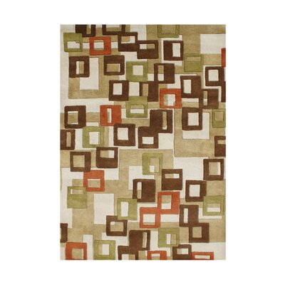 Giovanni Hand-Tufted Beige Area Rug Rug Size: 5 x 8