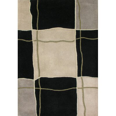Cadillac Hand-Tufted Black/Beige Area Rug Rug Size: Rectangle 5 x 8