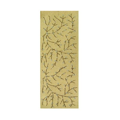 Kit Hand-Tufted Cornsilk Area Rug Rug Size: Runner 3 x 10