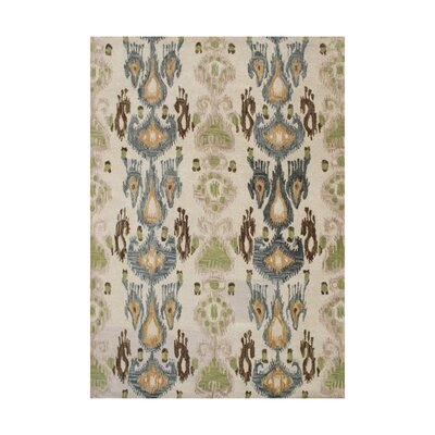 Castillo Hand-Tufted Beige/Green Area Rug Rug Size: 8 x 10
