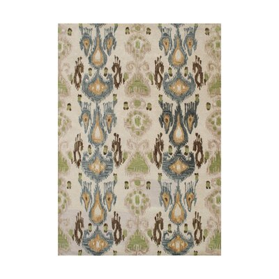 Castillo Hand-Tufted Beige/Green Area Rug Rug Size: 9 x 12