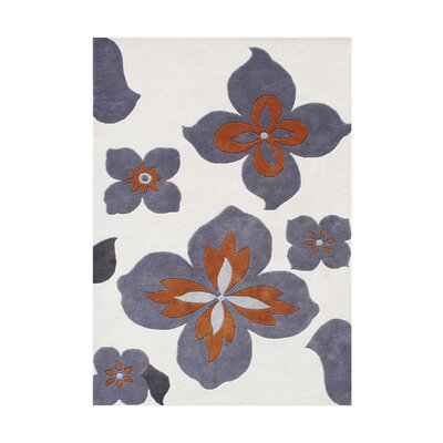 Diaz Hand-Tufted Grey Area Rug Rug Size: 5 x 8