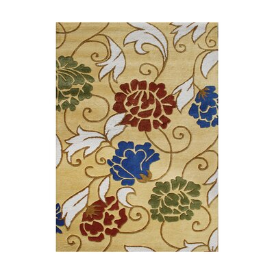 Cermenho Hand-Tufted Honey Gold Area Rug Rug Size: 5 x 8