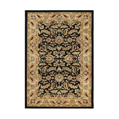Champlain Hand-Tufted Black/Gold Area Rug Rug Size: 10 x 14