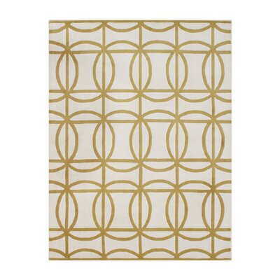 James Hand-Tufted Beige/Gold Area Rug