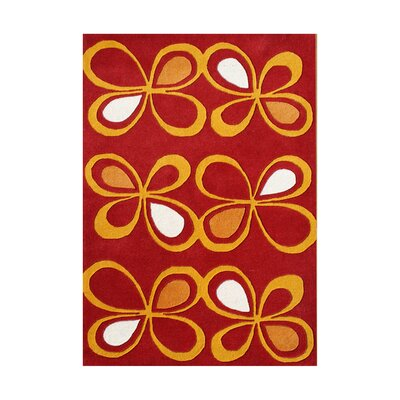 Cordoba Hand-Tufted Fiesta Red/Orange Area Rug