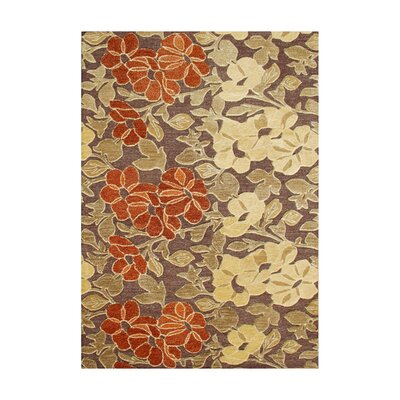 Hernan Hand-Tufted Tobacco Brown Area Rug Rug Size: 9 x 12