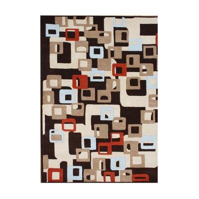 Dampier Hand-Tufted Black Area Rug Rug Size: 5 x 8