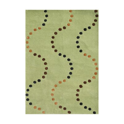 De Anza Hand-Tufted Green Area Rug Rug Size: 5 x 8