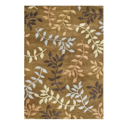 De Aviles Hand-Tufted Brown Area Rug Rug Size: 5 x 8