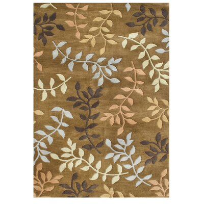De Aviles Hand-Tufted Brown Area Rug Rug Size: 8 x 10