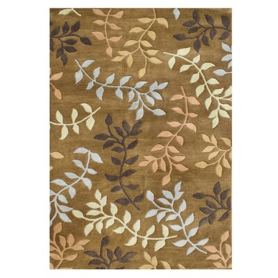 De Aviles Hand-Tufted Brown Area Rug Rug Size: 9 x 12