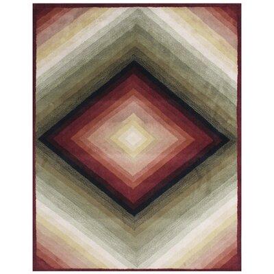 Vazquez Hand-Tufted Gray Sand Area Rug Rug Size: 5 x 8
