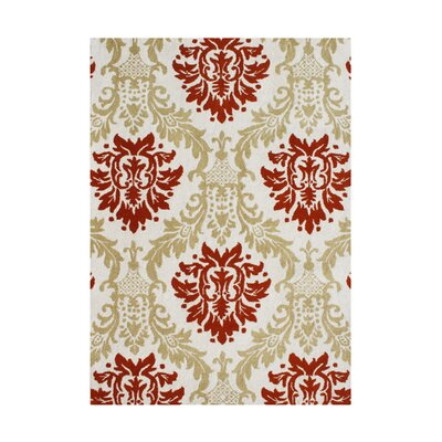 Samuel Hand-Tufted Cherry Tomato Area Rug Rug Size: 5 x 8