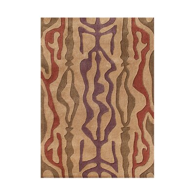 Juan Hand-Tufted Golden Earth Area Rug Rug Size: 5 x 8