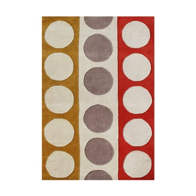 Ponce Hand-Tufted Beige Area Rug Rug Size: 4 x 6