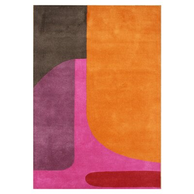 De Niza Hand-Tufted Flame Orange Area Rug Rug Size: 5 x 8