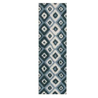 De Pineda Hand-Tufted Orion Blue Area Rug Rug Size: Runner 3 x 10