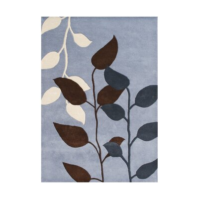 De Onate Hand-Tufted Dust Blue Area Rug Rug Size: 5 x 8