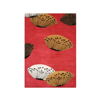 Alonso Hand-Tufted Cherry Tomato Area Rug Rug Size: 5 x 8