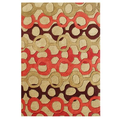 De Soto Hand-Tufted Russet Brown Area Rug Rug Size: 8 x 10