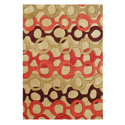 De Soto Hand-Tufted Russet Brown Area Rug Rug Size: 5 x 8