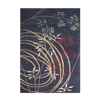 Hernando Hand-Tufted Black Area Rug Rug Size: 9 x 12