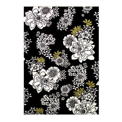 Nunez Hand-Tufted Black Area Rug Rug Size: 5 x 8