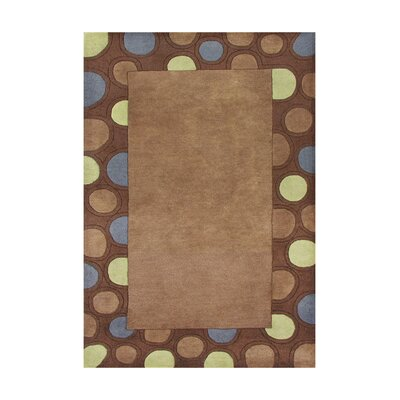 Drake Hand-Tufted Brown Area Rug Rug Size: 5 x 8