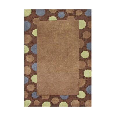 Drake Hand-Tufted Brown Area Rug Rug Size: 5' x 8'