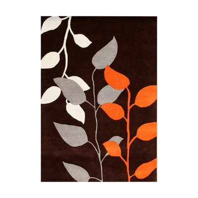 Dubuque Hand-Tufted Dark Earth Area Rug Rug Size: 5 x 8