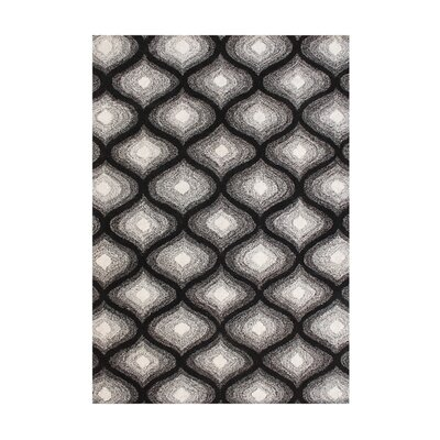Julian Hand-Tufted Black Area Rug Rug Size: 5 x 8