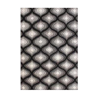 Julian Hand-Tufted Black Area Rug Rug Size: 5' x 8'