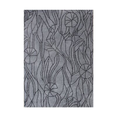 Du Sable Hand-Tufted Dark Gull Gray Area Rug Rug Size: 9 x 12