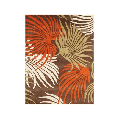 Eriksson Hand-Tufted Coca Brown Area Rug Rug Size: 5 x 8