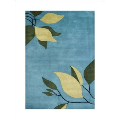 Francisco Hand-Tufted Alaskan Blue Area Rug Rug Size: 5 x 8